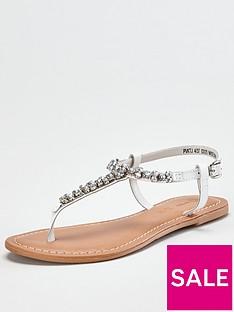 v-by-very-harlem-leather-diamante-toe-post-sandal-white