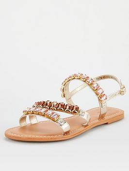 v-by-very-halt-leather-embellished-sandal-rose-gold