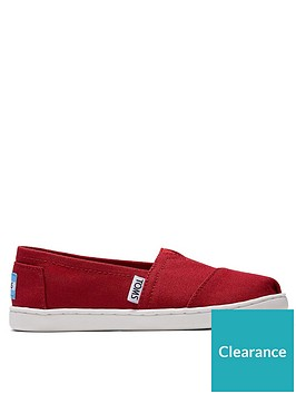 toms-boysnbspalpargata-canvas-shoe-red