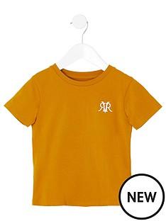 river-island-mini-mini-boys-rvr-embroidered-tshirt-yellow