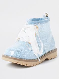 river-island-mini-girls-lace-cleated-bootnbsp-nbsplight-blue