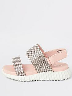 river-island-mini-mini-girls-diamante-chunky-sole-sandals-pink
