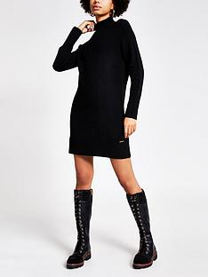 river-island-knitted-tunic-jumper-black