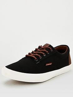 jack-jones-classic-canvas-plimsolls-black