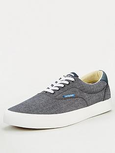 jack-jones-mork-chambray-plimsolls-anthracitenbsp