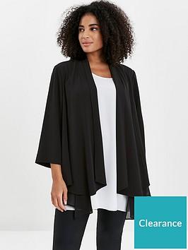 evans-chiffon-trim-jacket-black