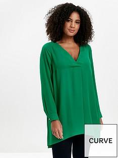 evans-long-sleeve-cross-front-top-green