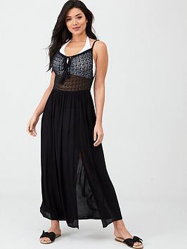 pour-moi-crochet-detail-maxi-dress-black