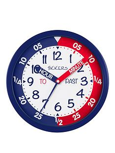 tikkers-time-teacher-wall-clock-ndash-red-and-blue