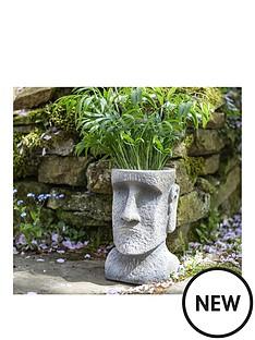 la-hacienda-easter-island-head-planter-medium
