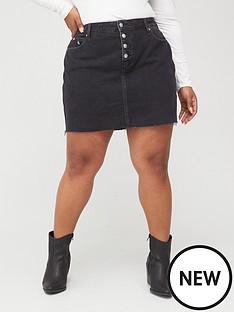 calvin-klein-jeans-high-rise-denim-skirt-dark-wash