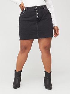 calvin-klein-jeans-plus-high-rise-denim-skirt-dark-wash