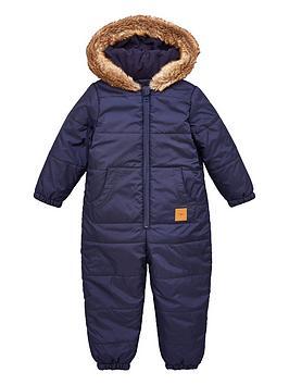 v-by-very-boysnbspfaux-fur-trim-shower-proofnbsphooded-snowsuit-multi