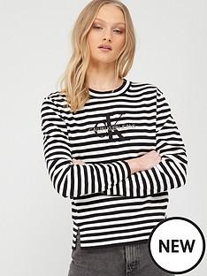 calvin-klein-jeans-monogram-embro-crew-neck-top-black