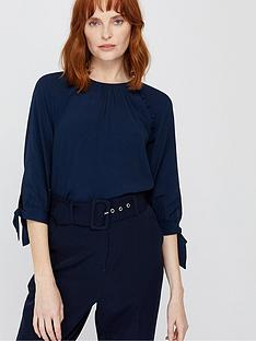 monsoon-josiah-tie-sleeve-blouse-navy
