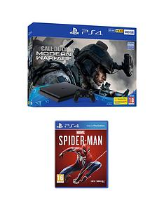 playstation-4-ps4-500gb-call-of-duty-modern-warfare-bundle-and-marvels-spider-man-with-optional-extras