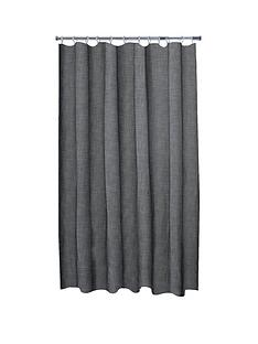 aqualona-grey-slub-shower-curtain