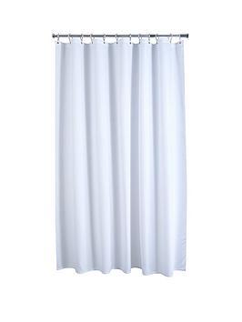 aqualona-white-waffle-shower-curtain