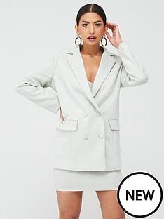 missguided-missguided-suedette-oversized-grandad-blazer-mint