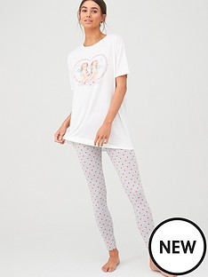 v-by-very-cherub-tee-and-legging-pj-set-print