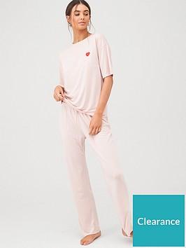v-by-very-embroidered-short-sleeve-pyjamas-mauve