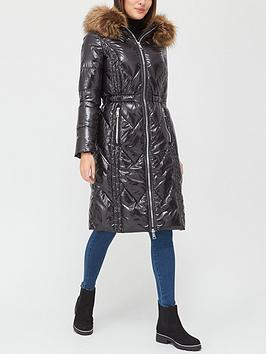 v-by-very-long-high-shine-padded-coat-black
