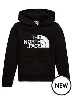 the-north-face-youth-unisex-drew-peak-overhead-hoodie-black