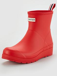 hunter-original-play-boot-short-vegan-welly-red