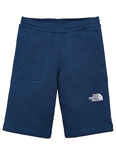 the-north-face-boys-fleece-shorts-navy