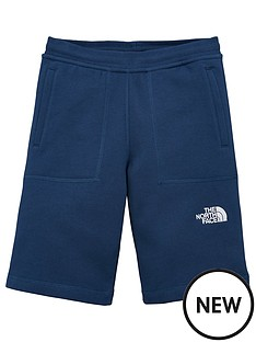 the-north-face-boys-fleece-shorts-navy