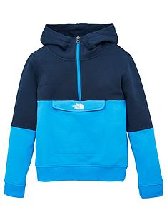 the-north-face-boys-yafita-14-zip-hoodie-blue