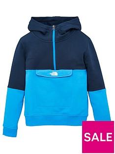 the-north-face-boys-yafita-14-zip-hoodie-blue