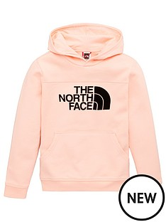 the-north-face-girls-drew-peak-flock-logo-hoodie-pink