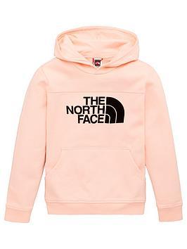 the-north-face-girls-drew-peak-flock-logo-hoodie-pink