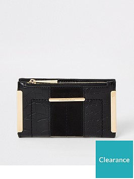river-island-river-island-mini-metal-corner-purse-black