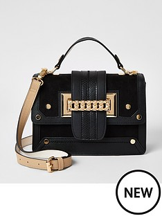 river-island-river-island-chain-front-mini-bag-black
