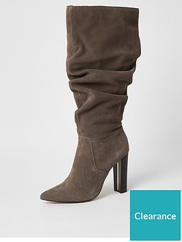 river-island-suede-knee-high-slouch-boot-grey
