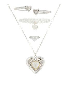 monsoon-girls-pearly-heart-clips-and-jewellery-set-multi