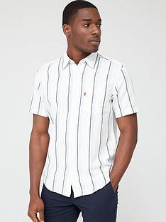 levis-stripe-short-sleeve-classic-1-pocket-shirt-ndash-cloud-dancer