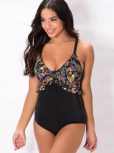 pour-moi-hot-spots-floralnbspfrill-control-swimsuit-black