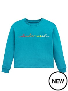 v-by-very-girls-kinda-cool-rainbow-slogan-sweatshirt-green