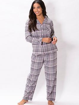 pour-moi-cosy-check-pyjama-set-greypink