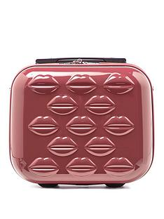 lulu-guinness-antique-rose-lips-hardsided-vanity-case
