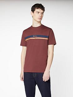 ben-sherman-mod-stripe-logo-t-shirt-dark-red
