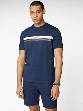ben-sherman-mod-stripe-logo-t-shirt-navy