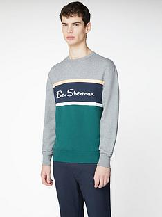 ben-sherman-colour-blocked-logo-sweatshirt-steel