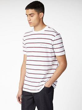 ben-sherman-vintage-yarn-dyed-stripe-t-shirt-white