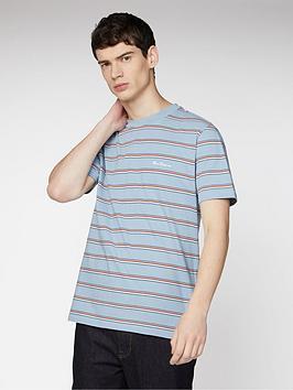 ben-sherman-vintage-yd-stripe-t-shirt-dusky-blue