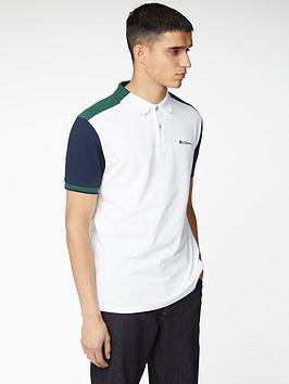 ben-sherman-colour-blocked-polo-shirt-white
