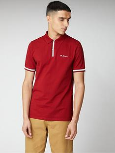 ben-sherman-mod-stripe-detail-polo-shirt-red
